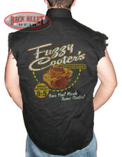 FUZZY COOTERS Carburetors Sleeveless Denim Shirt Biker Cut Rod Needs Cooter