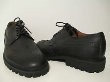 St. John's Bay Mens Perry Wingtip Leather Black Shoes
