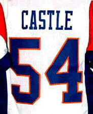 """KEVIN """"THAD"""" CASTLE #54 BLUE MOUNTAIN STATE JERSEY White NEW SEWN ANY SIZE"""