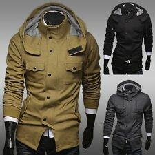 New Autumn&Winter Military style Solid Color Hooded Jacket men's clothing