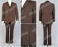 Who is Doctor Dr Brown Pinstripe Business Suit Blazer+Pants Cosplay Costume Set