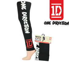 *NEW* GIRLS 1D ONE DIRECTION BLACK LEGGING SIZE 8 10 12 14