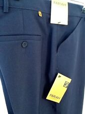 Mens Farah Trousers ( NAVY ) frogmouth pocket RRP £32 Great buy-classic fit