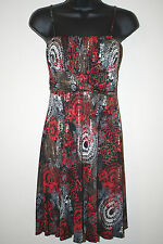 NINA PIU JUNIOR SPAGHETTI STRAP DRESS BLK/GRY/WHT/RED SIZES SML MED NWOT