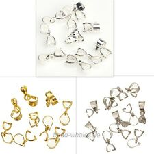 15Pcs Silver/Gold Plated 18KGP Pinch Clip Connectors Bails For Craft DIY 12mm