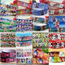 2M Childrens Cartoon Character Grosgrain Ribbon MANY TO CHOOSE FROM, laces, bow