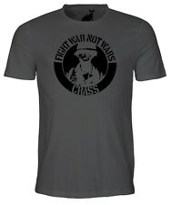 Fight Wars Not War Mens T Shirt Crass Anarchy Disobey Chaos Ignorant