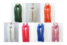 New Women Scarf Knitted Warm Soft Winter Wrap Wool Cowl Shawl