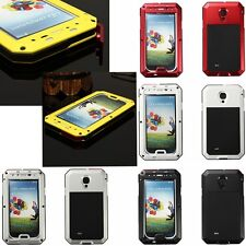 Aluminum Metal Water/Shock Proof Gorilla Glass Case For Samsung Galaxy S4 i9500