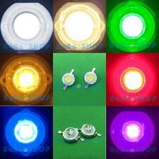 3W Cool Warm White Royal Blue Red Green Yellow Purple UV High Power LED Light PC