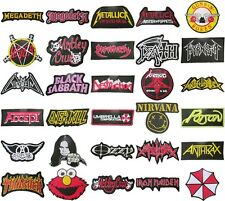 Music Songs Heavy Metal Punk Rock Band Logo L-W T-Shirts iron on Patches Badge