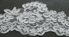 Custom Floral Lace Edge Wedding Veil You Choose Length & Color Made in USA