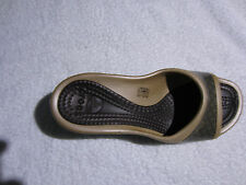 Super Sexy Cool Crocs Espresso / Gold Sately Womens Comfortable Wedges 9,10,11