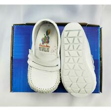 Baby Boy White Leather High Top shoes with Velcro: Size 3 to 8 Made in Mexico