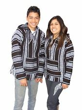 Lot of 3 for $23.99 Pack Size Blue Baja Jacket Hoodie Drug Rug Wholesale Mexico