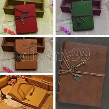 Retro Leather String Key Notebooks Journals Diary Notepad Bound Blank Pages Memo