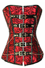 Festive Red Jacquard Corset women sexy bustier 2014 summer party wear LC5275