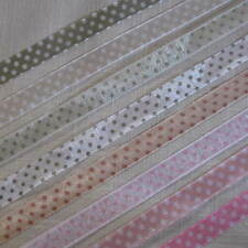 3m SHEER ORGANZA POLKA DOT SPOTTY 10mm RIBBON - CHOICE OF COLOURS