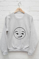 Emoji Face Grin Smile Jumper Funny Gift Tumblr Hipster Hoodie Hoody W040