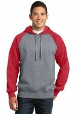 Sport-Tek Men's 9oz Raglan Colorblock Pullover Hooded Sweatshirt #ST267