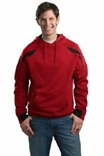 Sport-Tek Men's 9oz Fleece Color-Spliced Pullover Hooded Sweatshirt #F266