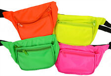 Neon Fanny Pack *Blank* Rave Waist Pack, Club and Festival Gear Many Colors!