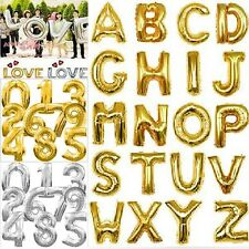 Foil Letters Number Balloons Spelling Words Wedding Birthday Party Decorations