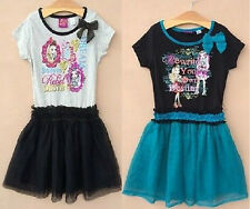 Girl's Monster High Short Sleeve Tulle Dress Kid's Toddle Dresses Age6-16Year