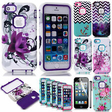 Dual Layer Hybrid Rugged Shockproof TPU Matte Hard Case Skin For iPhone Series
