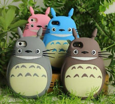 3D Cartoon Cute My Neighbor Totoro Soft Silicone Case cover for Apple iphone4 4s