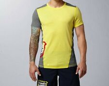 REEBOK CROSSFIT 2014 GAMES T-SHIRT - LIMITED EDITION - YELLOW - S - XL
