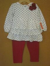 NEW FISHER-PRICE GIRLS 2 PC PANT OUTFIT 12M, 18M, 24M