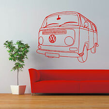 VW CAMPER VAN T2 TYPE 2 TRANSPORTER vinyl wall art sticker decal