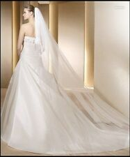 1T 3M White/ Ivory Wedding Bridal Veil With Comb