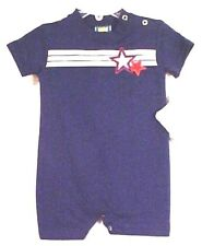 Picture Me  6111114  Navy Knit Nautical Romper,Whte, Red, Blue Trm Boy's 3,  6 M