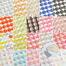 SMALL Sticker Sheet 3-8mm Self-Adhesive Rhinestones & Pearls Stripe Colors Gems