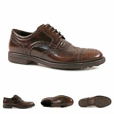 Dolce & Gabbana luxury brown leather lace-up dress oxfords shoes Made in Italy