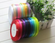 18 Satin Ribbon shiny quarter inch 6mm wide most basic demanding solid colours