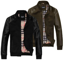 New Fashion Men's Winter jackets Slim Stand collar motorcycle jacket coats