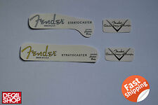 2 X Decal Decalcomania Replica Fender Stratocaster Made in U.S.A