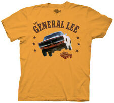 Adult Light Orange TV Show Series Dukes of Hazzard General Lee T-shirt Tee