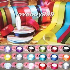 25 Yards Many Sizes Colors Satin Ribbon Wedding Birthday Party Decoration Sewing