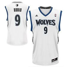 New Ricky Rubio # 9 Minnesota Timberwolves Adidas Replica White Youth NBA Jersey