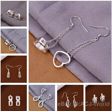 NO.10 Wholesale Hot Sale Fashion Silver Earrings Eardrop 30 style your choice