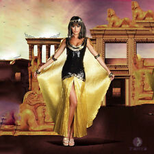 Sexy Womens Adult Cleopatra Egyptian Costume Fancy Dress Outfit
