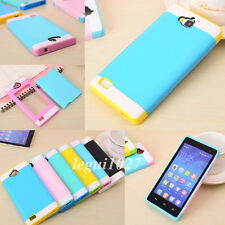 For Huawei Honor 3C Hybrid Shockproof Slim Multicolor Layered Cover Skin Case