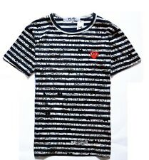 "COMME Des GARCONS CDG (4) ""PLAY RED HEART"" MEN'S SHORT SLEEVE T- SHIRT WHITE"