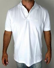 New HUGO BOSS Black Label Men Classic Polo 3 Buttons White Shirt Short Sleeve