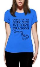 Come To The Geek side Women T-Shirt Dragon Cookies Dark Side Print Funny Top tee