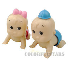 Lot Kid Child Baby Toddler Sound Maumet Windup Crawl Crawling Toy Doll Xmas Gift